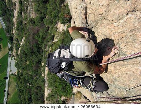 girl climbing france