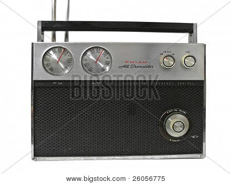 viejo 70, fondo blanco de la radio