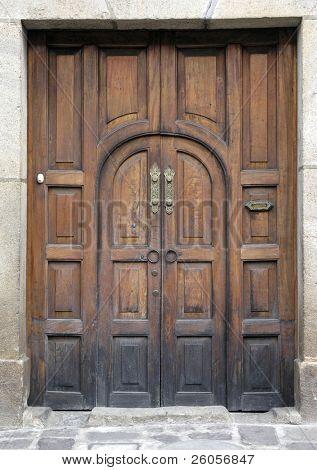 old colonial door in antigua