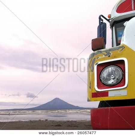 bus on lake nicaragua