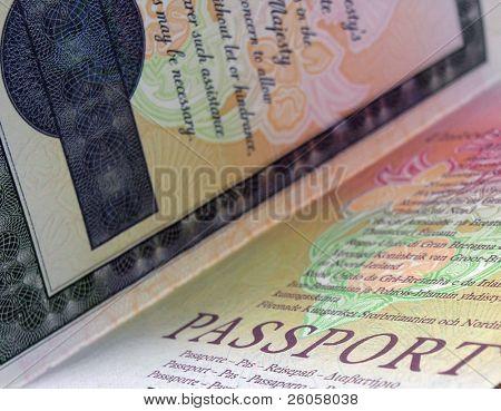 british passport close up