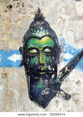 Buddha,  graffiti, asia