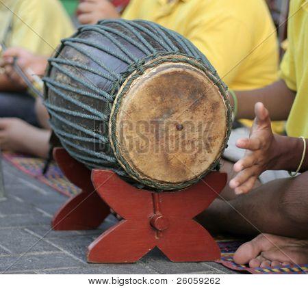 playing bongos on the street