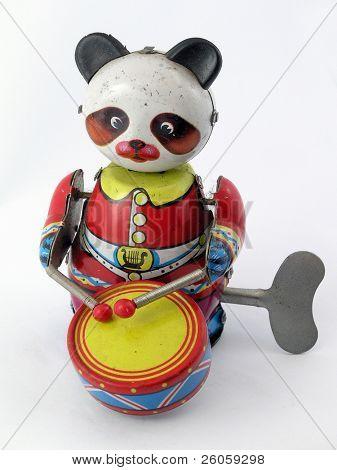 juguete de panda de música antigua