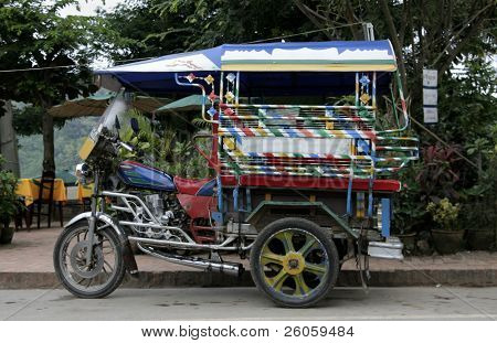 small taxi in laos