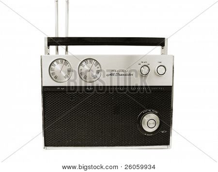 old 70, radio white background