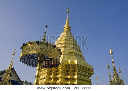 golden temples  chang mai thailand