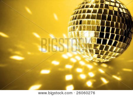 gold disco ball