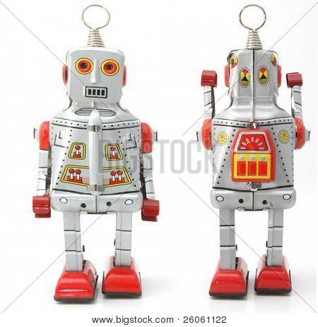 zwei retro Roboter