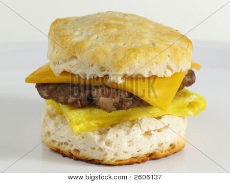 Sausage Biscuit Sandwich