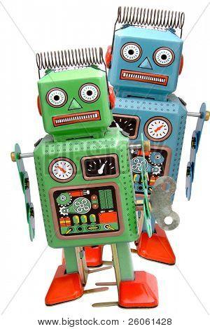 dois robô retrô roys