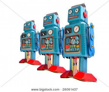 retro robot toys  team