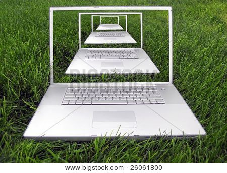 concept laptops in nature