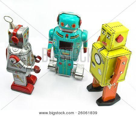 três brinquedos retrô