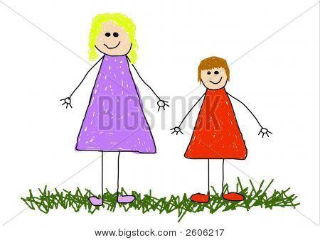 Kind und Mutter
