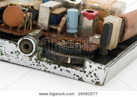 close up of old radio