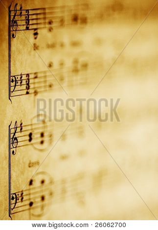 old sheet music abstract image