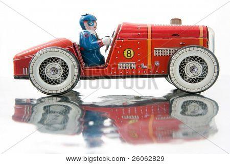 old tin race car