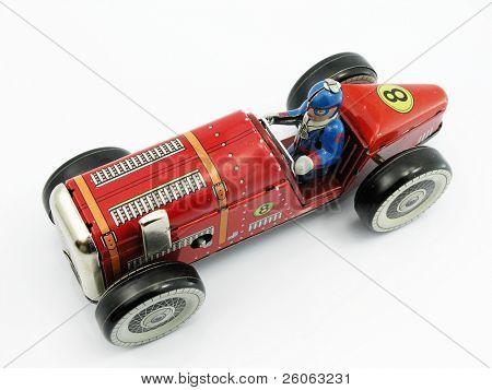 old tin retro car