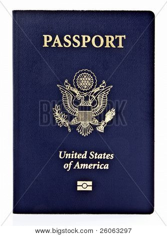 us passport on white