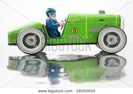 old tin race car