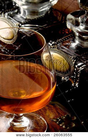 brandy and old decanters