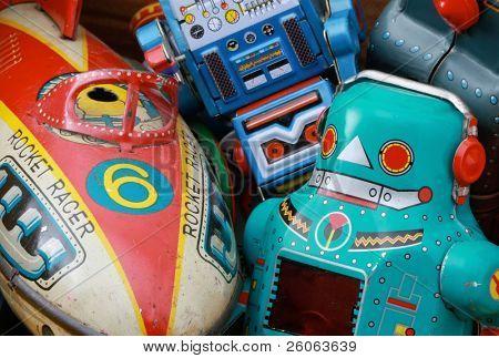 retro toys  in a box