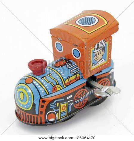 old tin toy train
