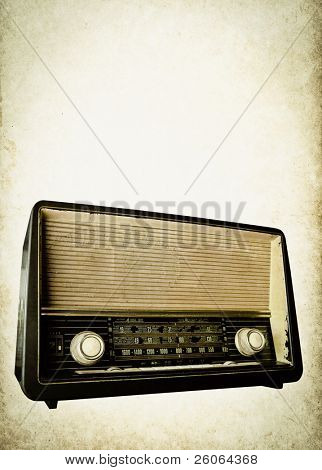 old radio background