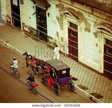 the streets of Granada in Nicaragua