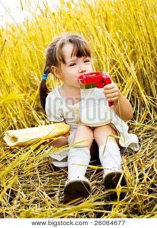 Girl Having A Picnic