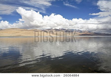 High altitude lake in the Himalayas and Tibet