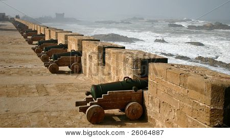 Cannons in the fortress in Essaouira