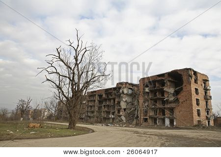 Scars of war (Grozny, Chechnya)