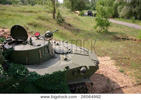Tank (combat vehicle) in ambush