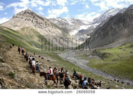 Pilgrimage to the holy Amarnath cave in the Himalayas