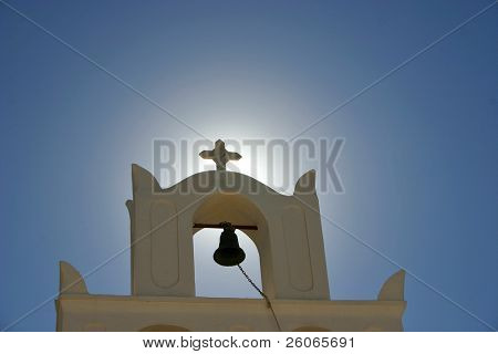 A greek orthodox church in Oia, Santorini.