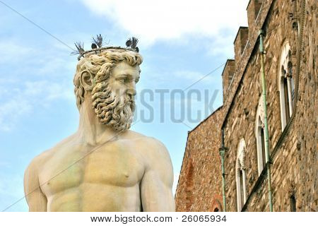 Fountain of Neptune is a fountain in Florence, Italy, situated on the Piazza della Signoria (Signoria square), in front of the Palazzo Vecchio