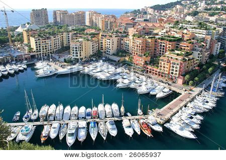 Boats and yachts from Monaco harbor