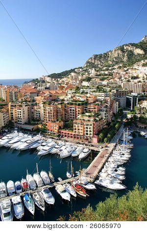 Boote und Yachten aus Monaco Hafen