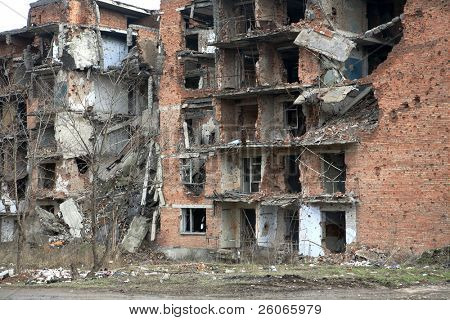 Scars of war in Grozny, Chechnya