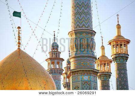 Minaretes de Qom en Irán - Qom es considerada una ciudad Santa del Islam Shi'a