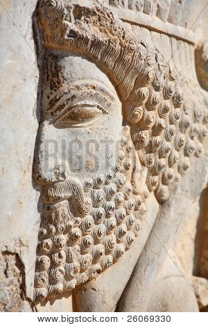 Bas-relief of Persian soldier from Persepolis, Iran (VI-th century BC)