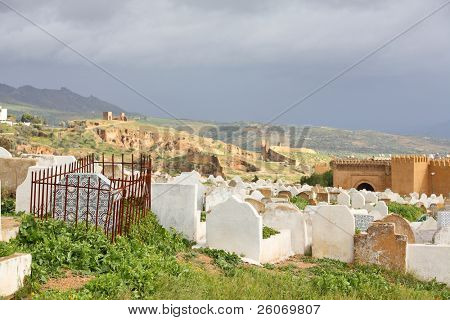 Muslim cemetery. Fes, Morocco