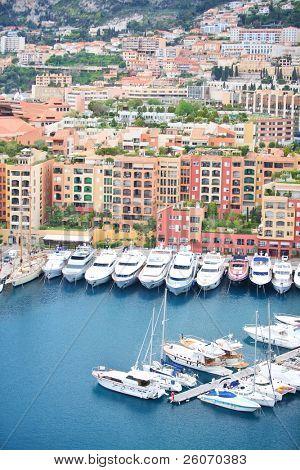 Boats and yachts in Monaco harbor