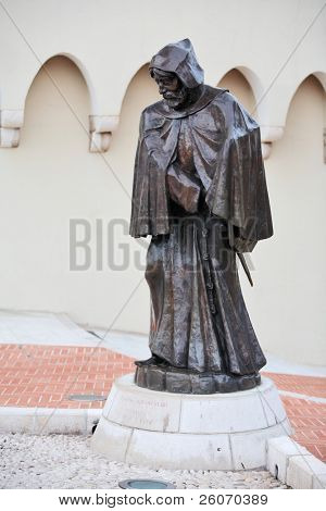 Statue of Grimaldi, in Monaco near Prince's Palace