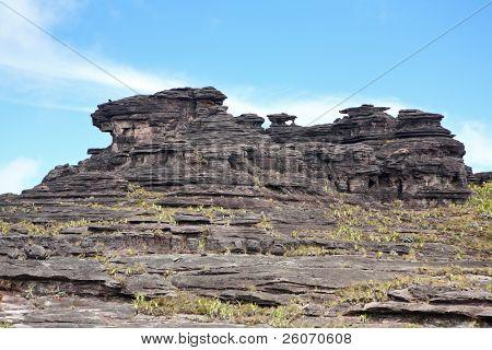 Paisagem do Monte Roraima (cruzamento de fronteiras: Venezuela, Guiana, Brasil)