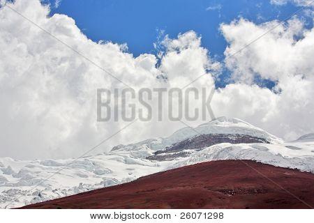 Cotopaxi - the highest active volcano at 5.897 m. Ecuador