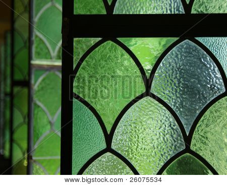 Detail, Windows Bordering Ornate Pool