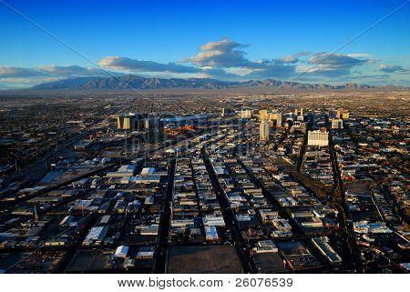 LAS VEGAS - MAR 4: Vegas Strip Luftbild am 4. März 2010 in Las Vegas, Nevada. Las Vegas-Stri